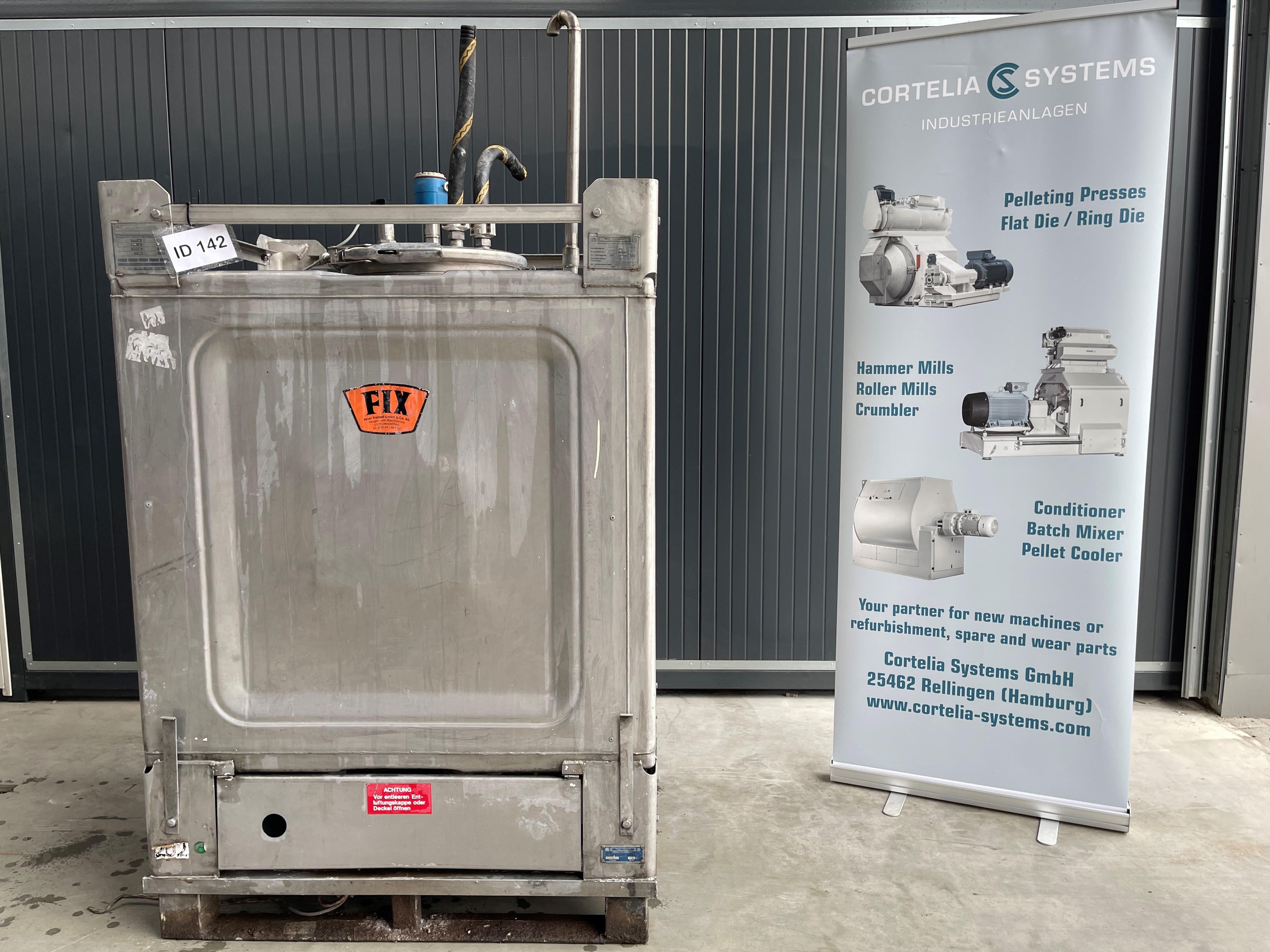 Edelstahlbehälter - Bison - 1000 Liter (V4A)