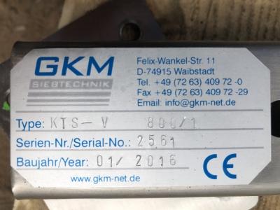 Vibrations-Taumelsiebmaschine - GKM Siebtechnik - KTS-V 800